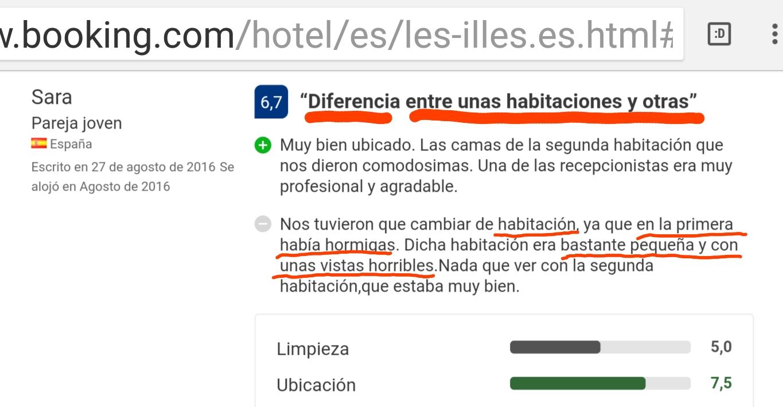 Booking reviews les illes hotel estartit