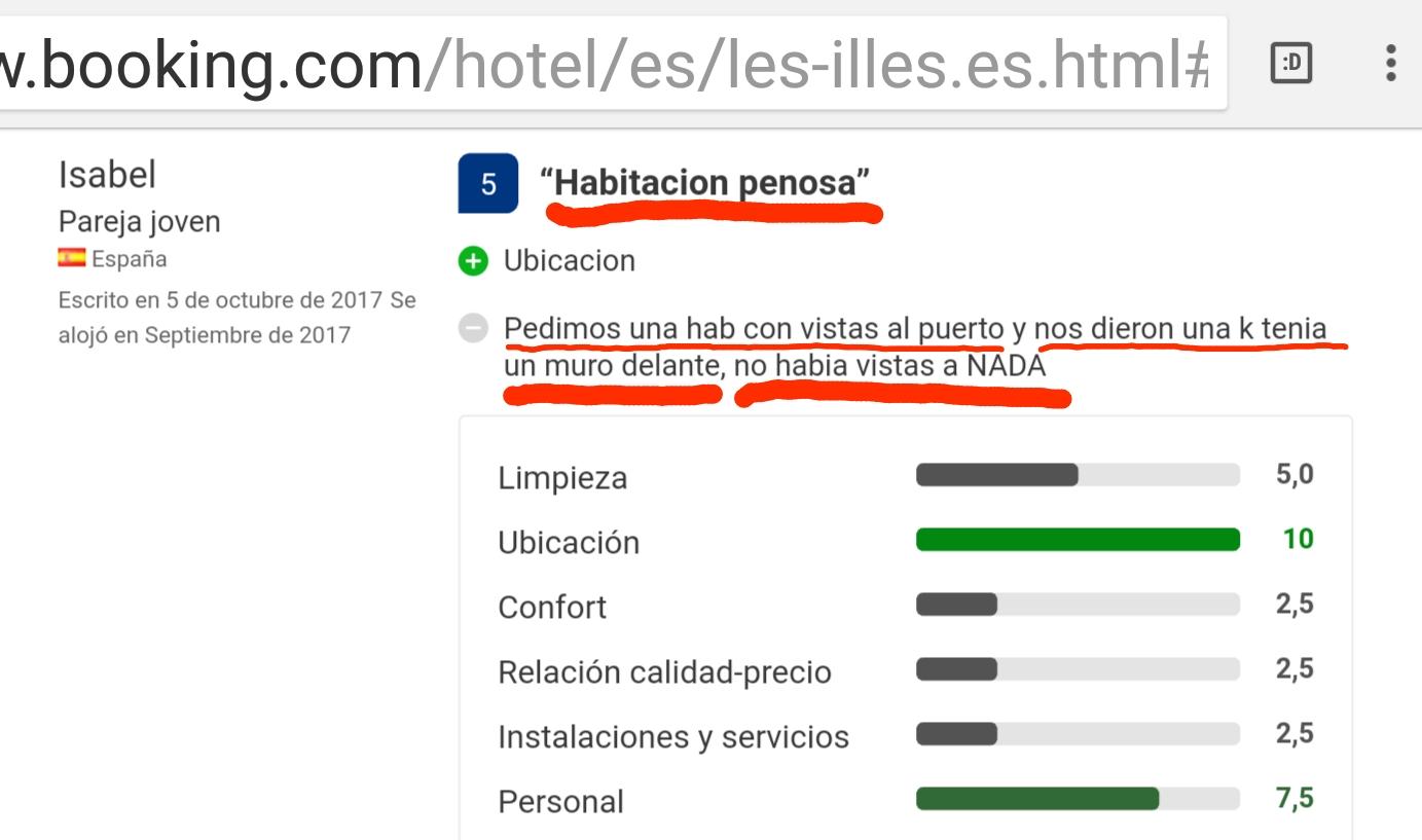 Habitacion hotel les illes estartit