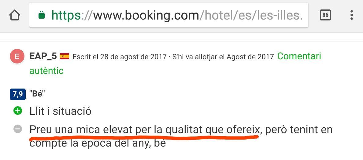 Hotel les illes estartit 4
