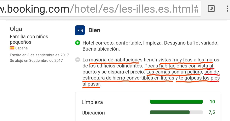 Hotel les illes estartit bed cama