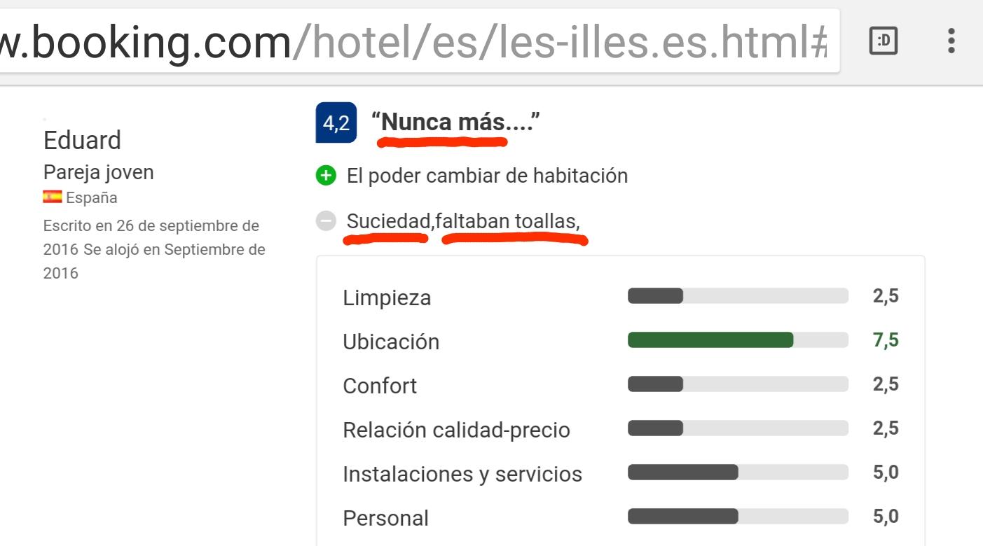 Hotel les illes estartit booking never