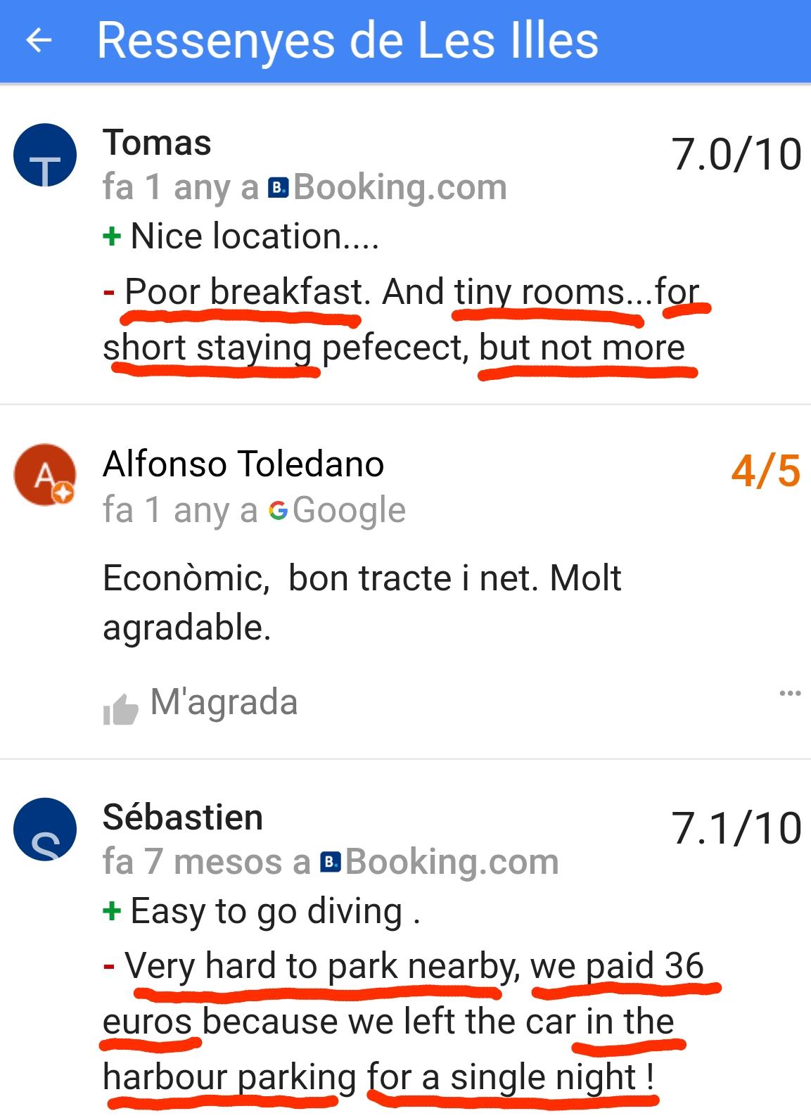 Hotel les illes estartit breakfast