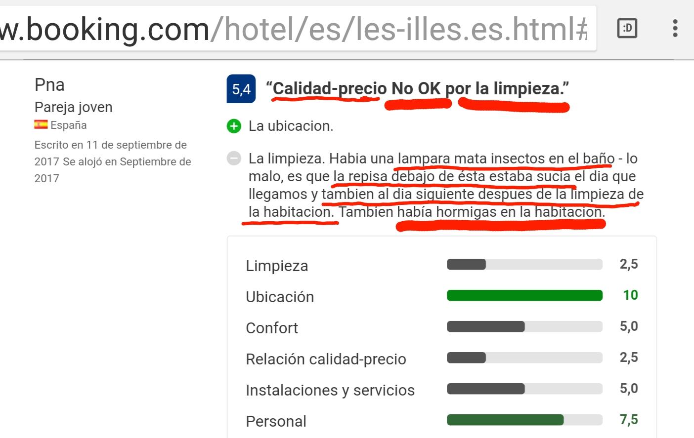 Hotel les illes estartit calidad
