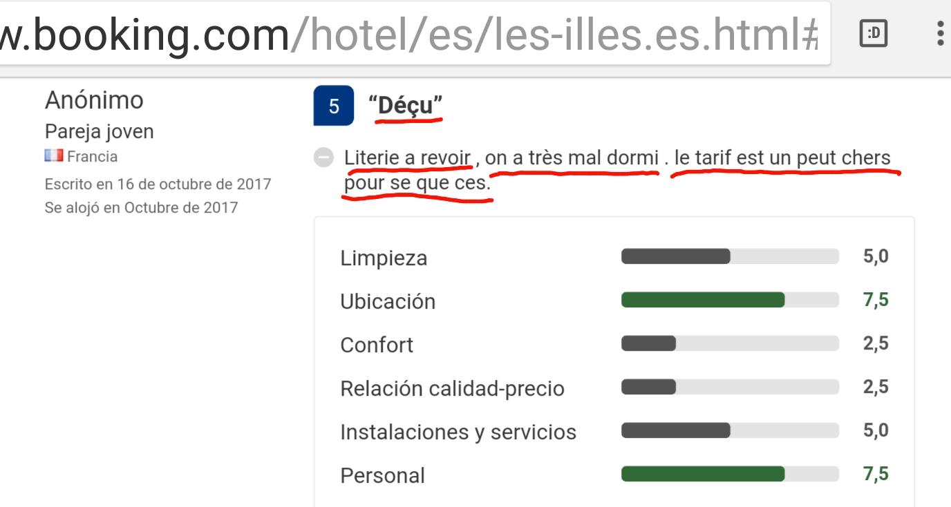 Hotel les illes estartit francais opinion