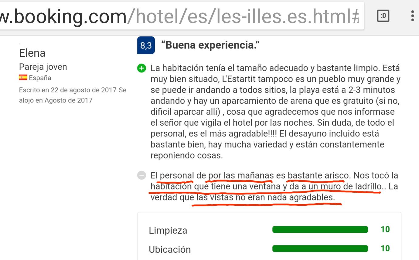 Hotel les illes estartit muy bien opinion