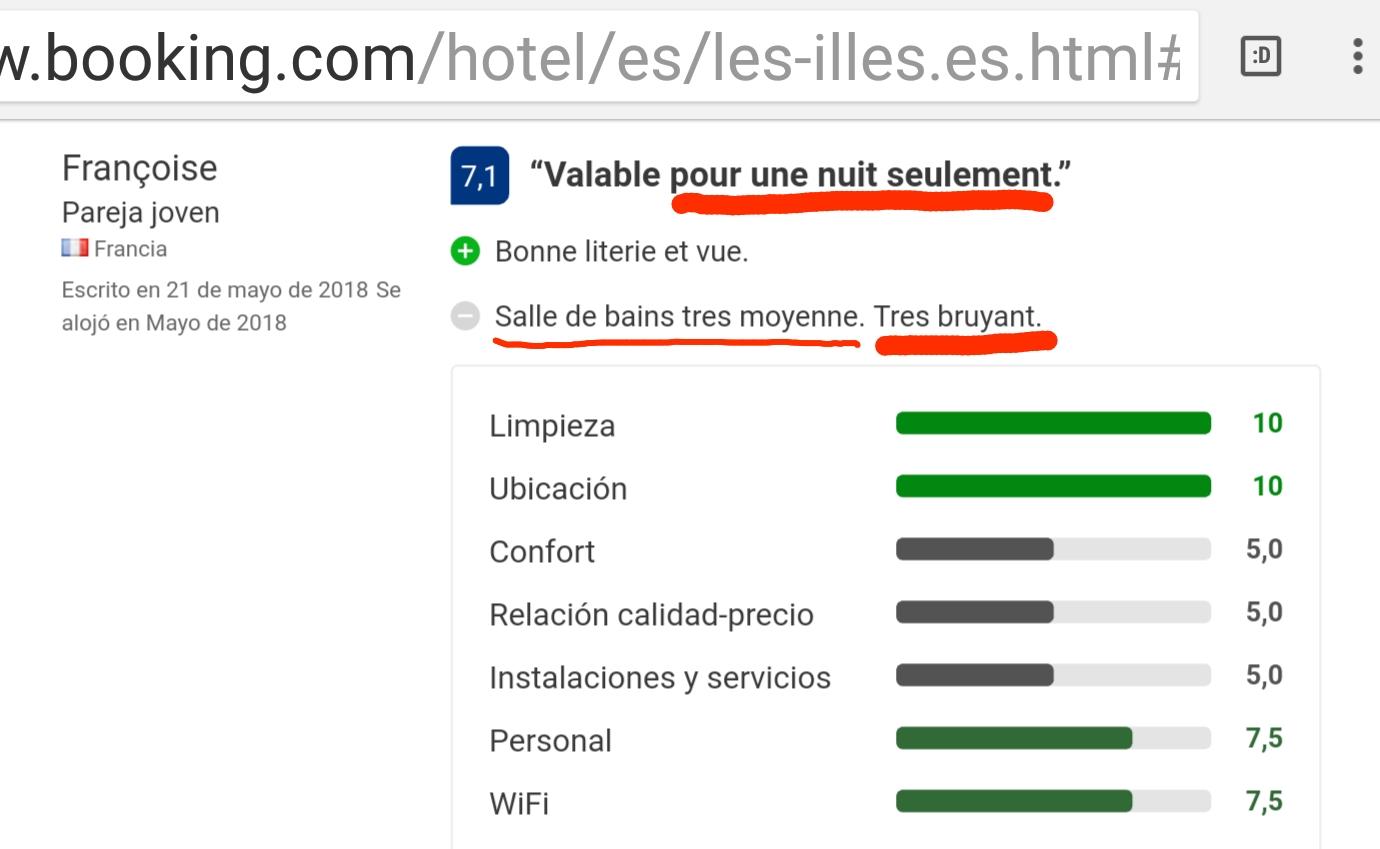 Hotel les illes estartit nuit