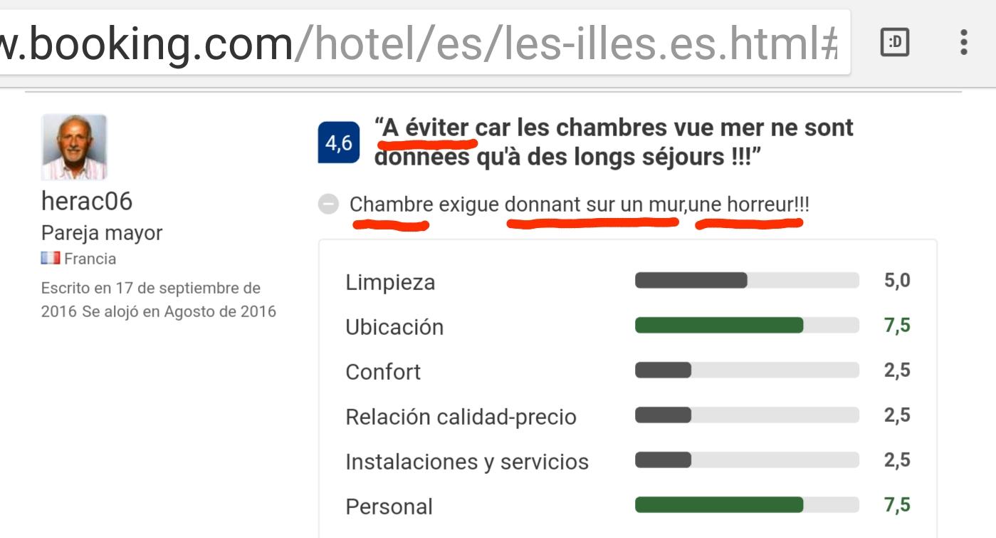 Hotel les illes l estartit booking eviter