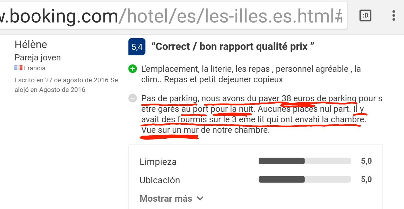 Les illes estartit hotel booking reviews