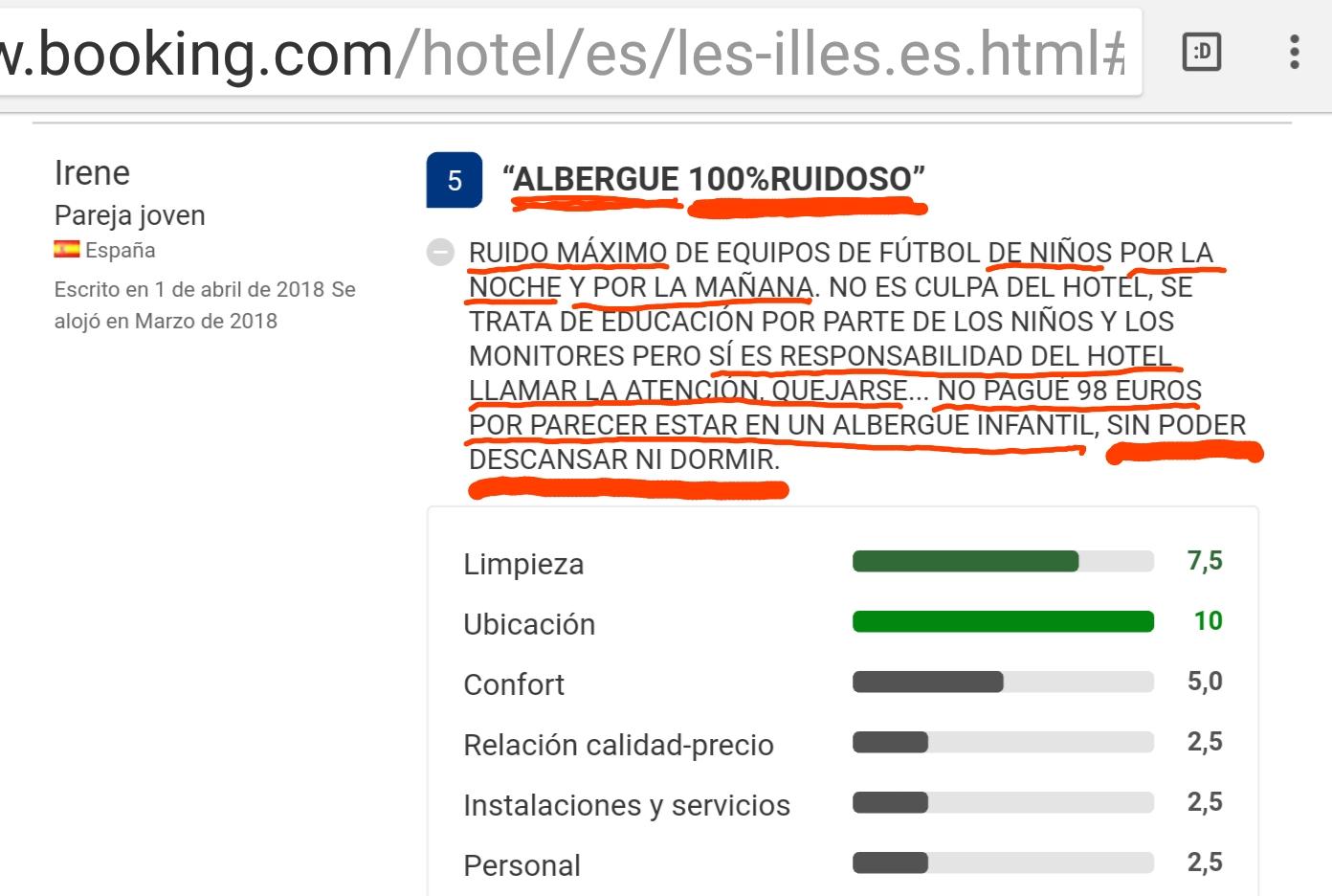 Opinion Hotel les illes Estartit booking