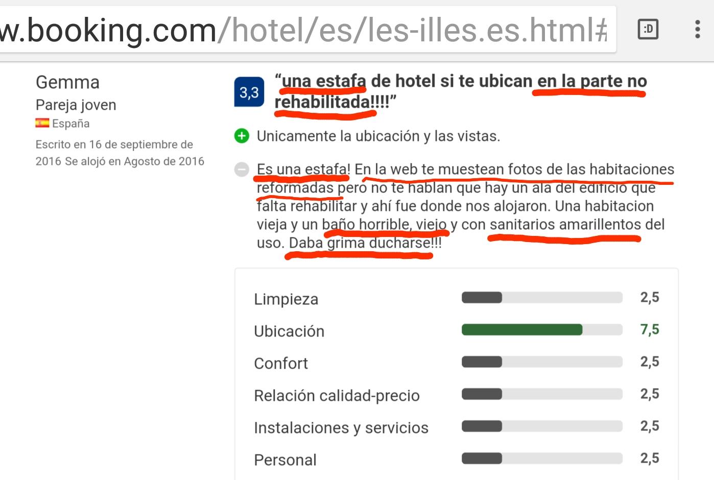 Hotel les Illes Estartit review booking.com