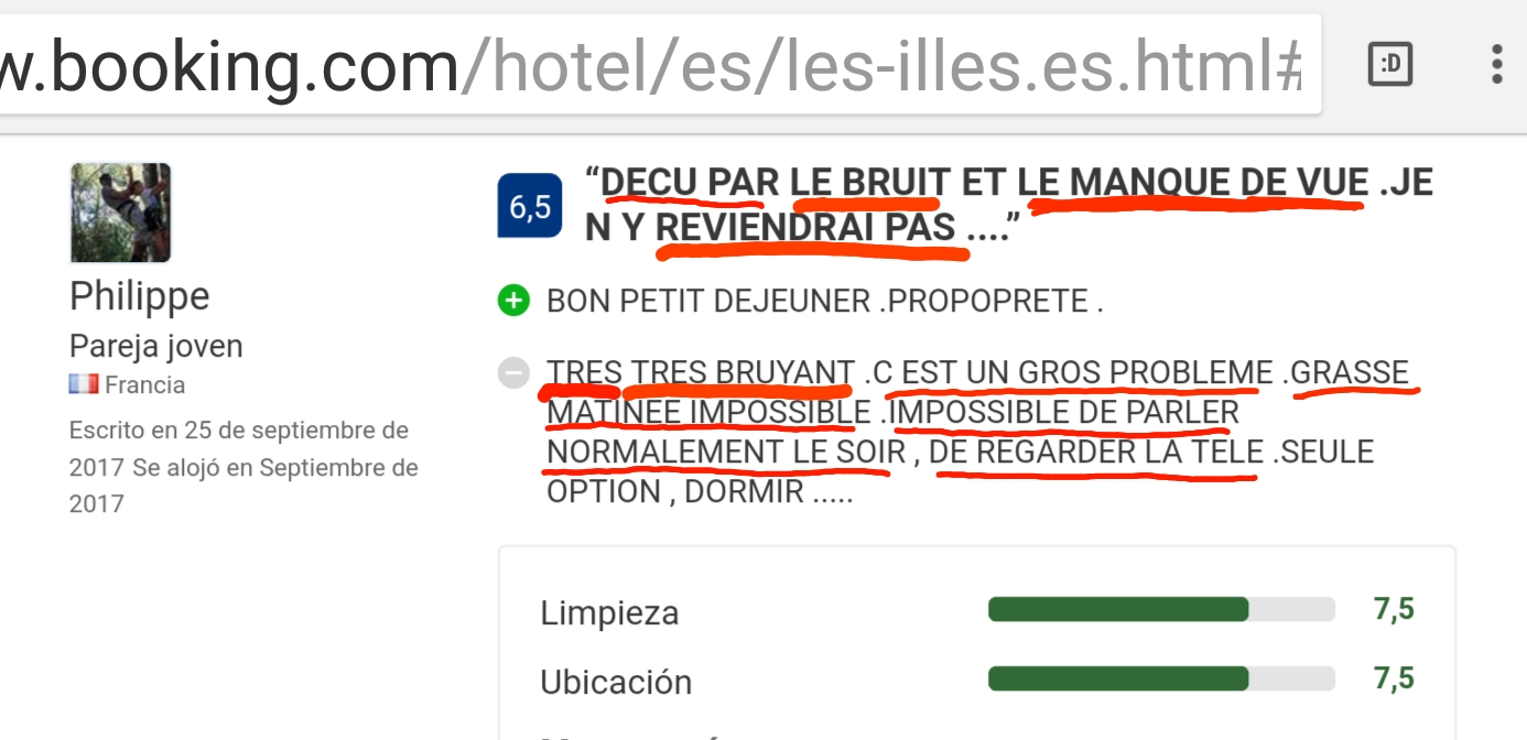 Hotel les illes Bruyant reviews opinions