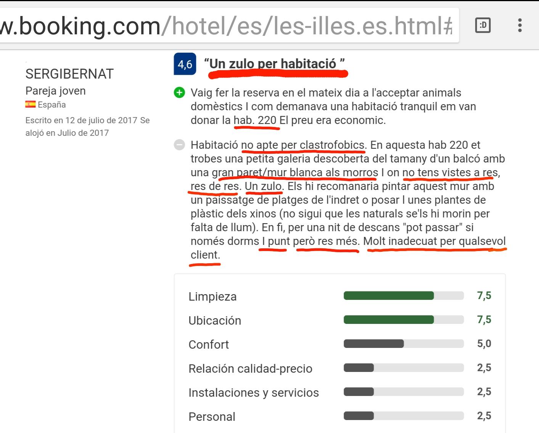 Booking Hotel les Illes Estartit Opinion
